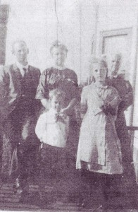 George, Sarah (McLean) Thurston, and Susan with Welling and Ada (George's children). cir. 1912.