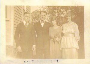 27 Sep 1919 l-r: John Mortimer, Harry Walker, Margaret McLean, Jeannette McLean