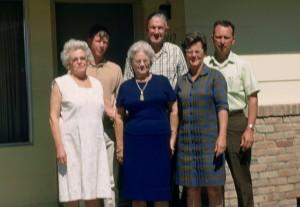 l-r Susie McLean Griffin, Bruce Burgraff, Margaret Walker, Edmund Griffin, Shirlee Walker Burgraff, Jack Brugraff - 1969 Reno, NV