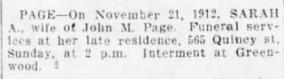 Sarah BDE 24 Nov 1912 p72 c2