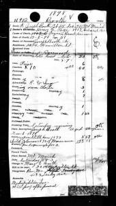 The 1898 funeral record of Joseph Booth with costs and info about the removal of the babies in the grave.