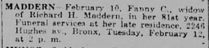 Fanny NYTrib 12 Feb 1918 p13c7