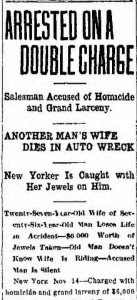 The headline from the Marion Weekly Star, Marion, Ohio, 16 Nov 1912, p1, c4.