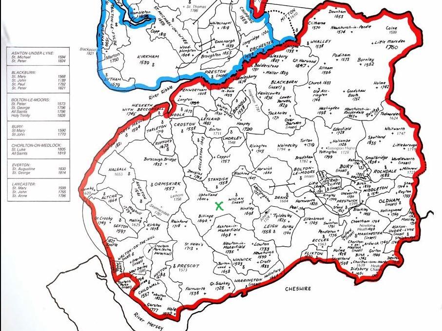Lancashire Parish map